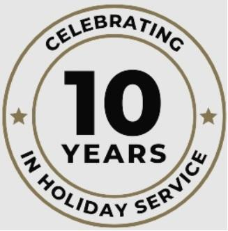 10+ Years of Holiday Service